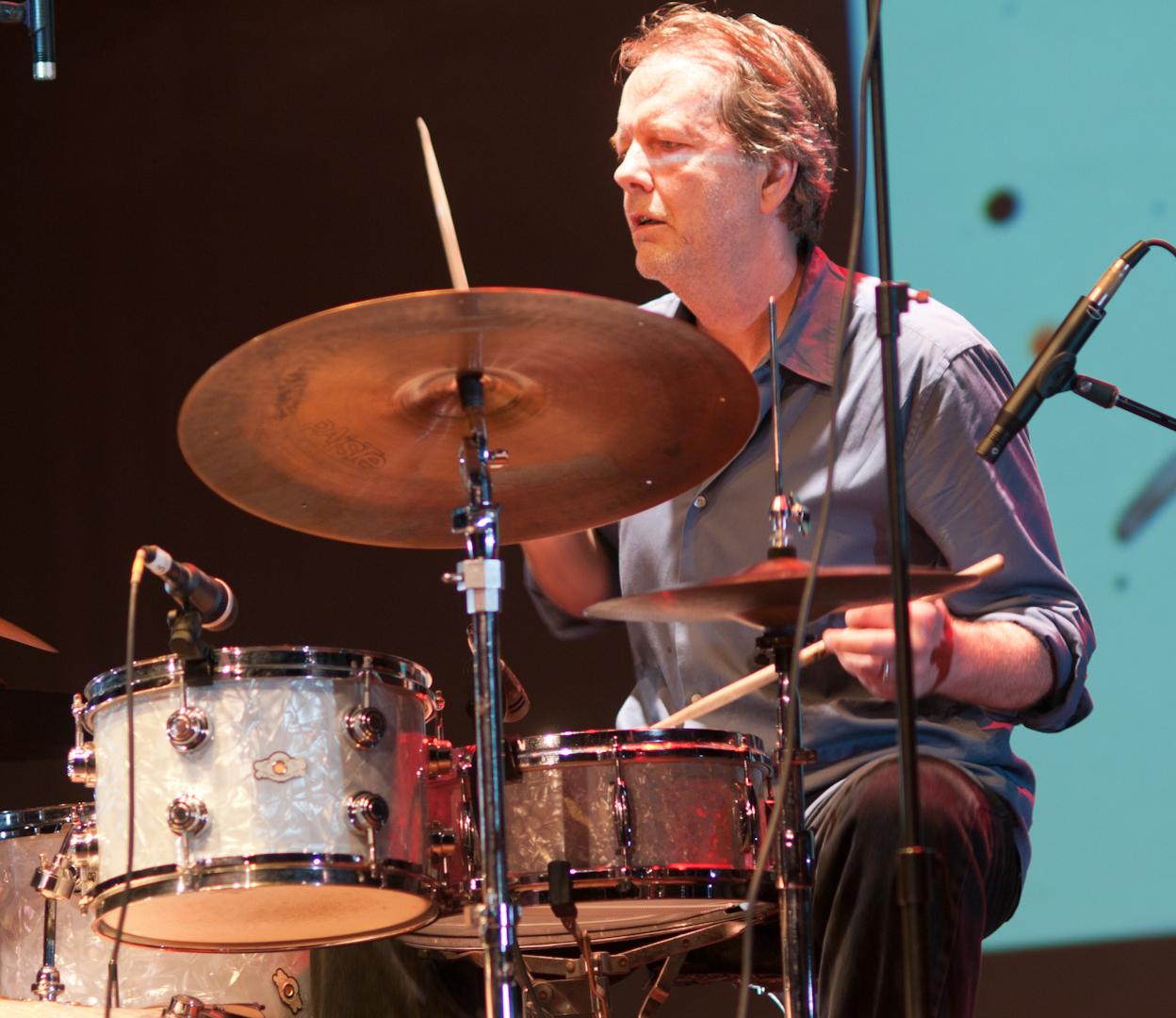 Tom Rainey with Tony Malaby's Tamarindo Trio at the Vision Festival 2011