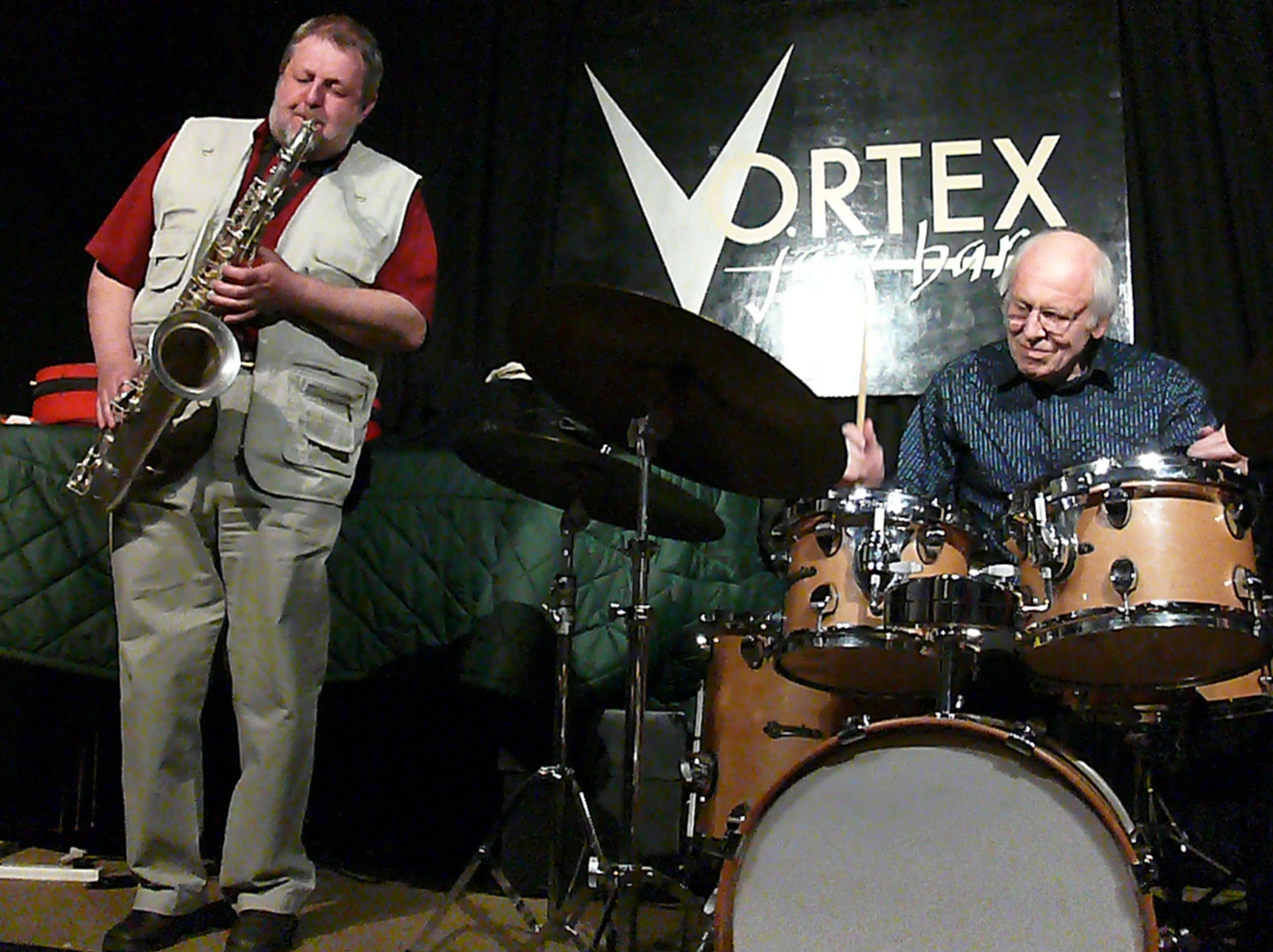 Paul Dunmall and Tony Levin at the Vortex, London, February 2010