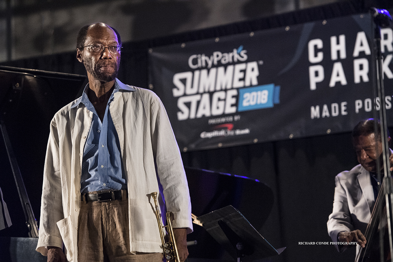 Charles Tolliver at the 2018 Charlie Parker Jazz Festival