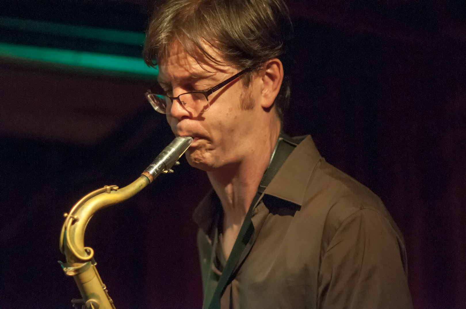 Donny McCaslin with Michael Bates at the Cornelia Street Cafe
