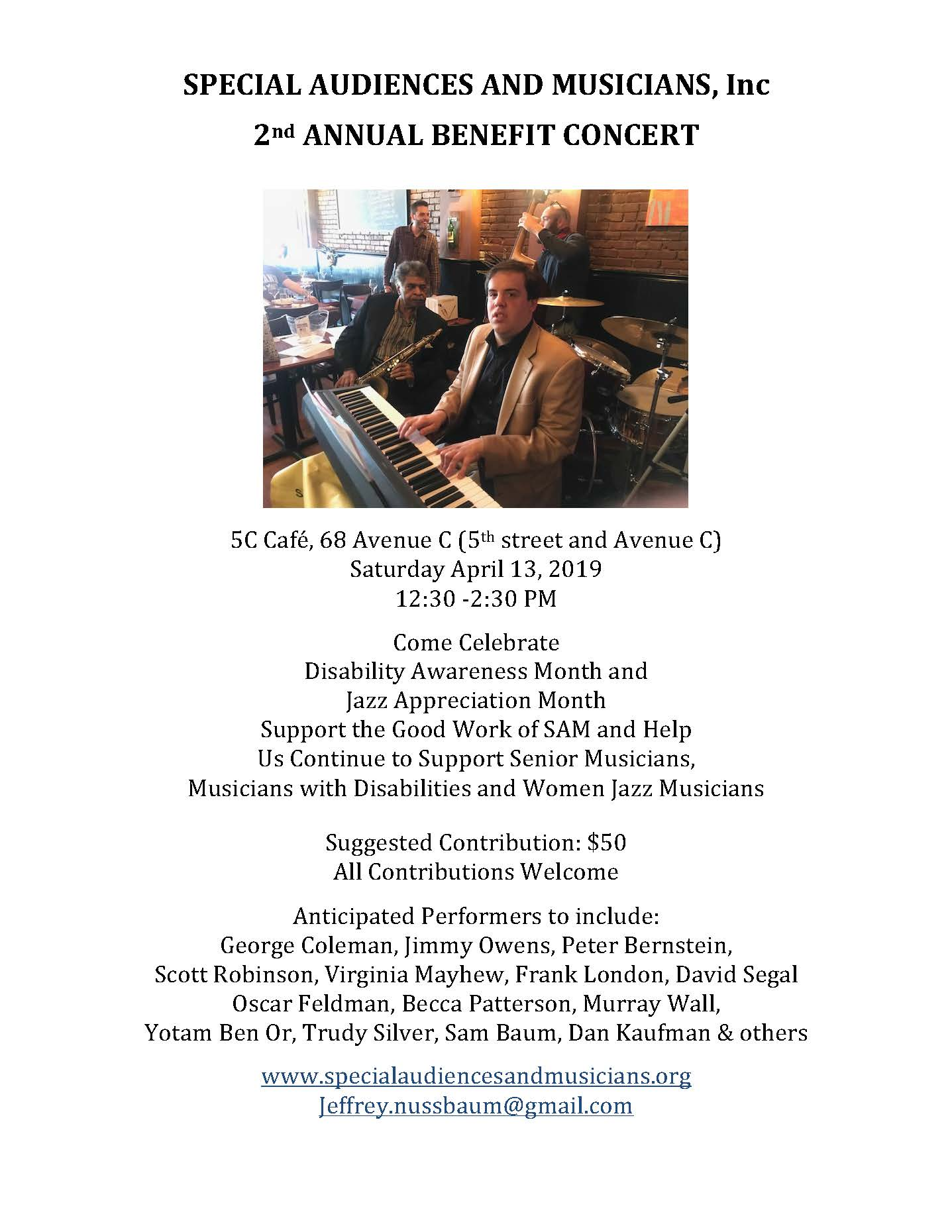Special Audiences And Musicians Benefit Concert