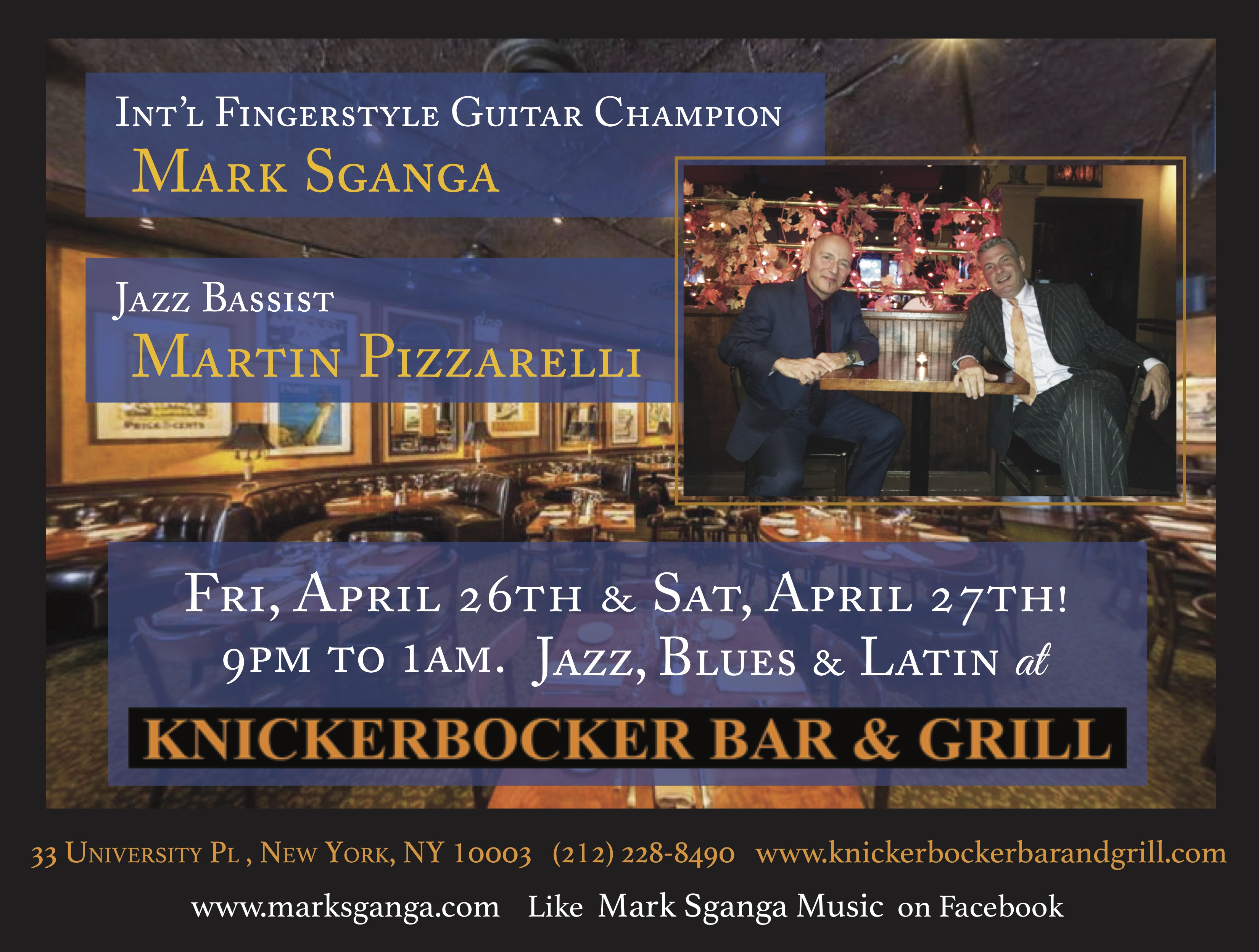 Sganga/pizzarelli: Jazz, Blues & Brazilian!