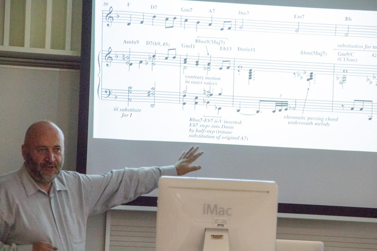 David o'rourke in jazz arranging workshop at cork jazz festival