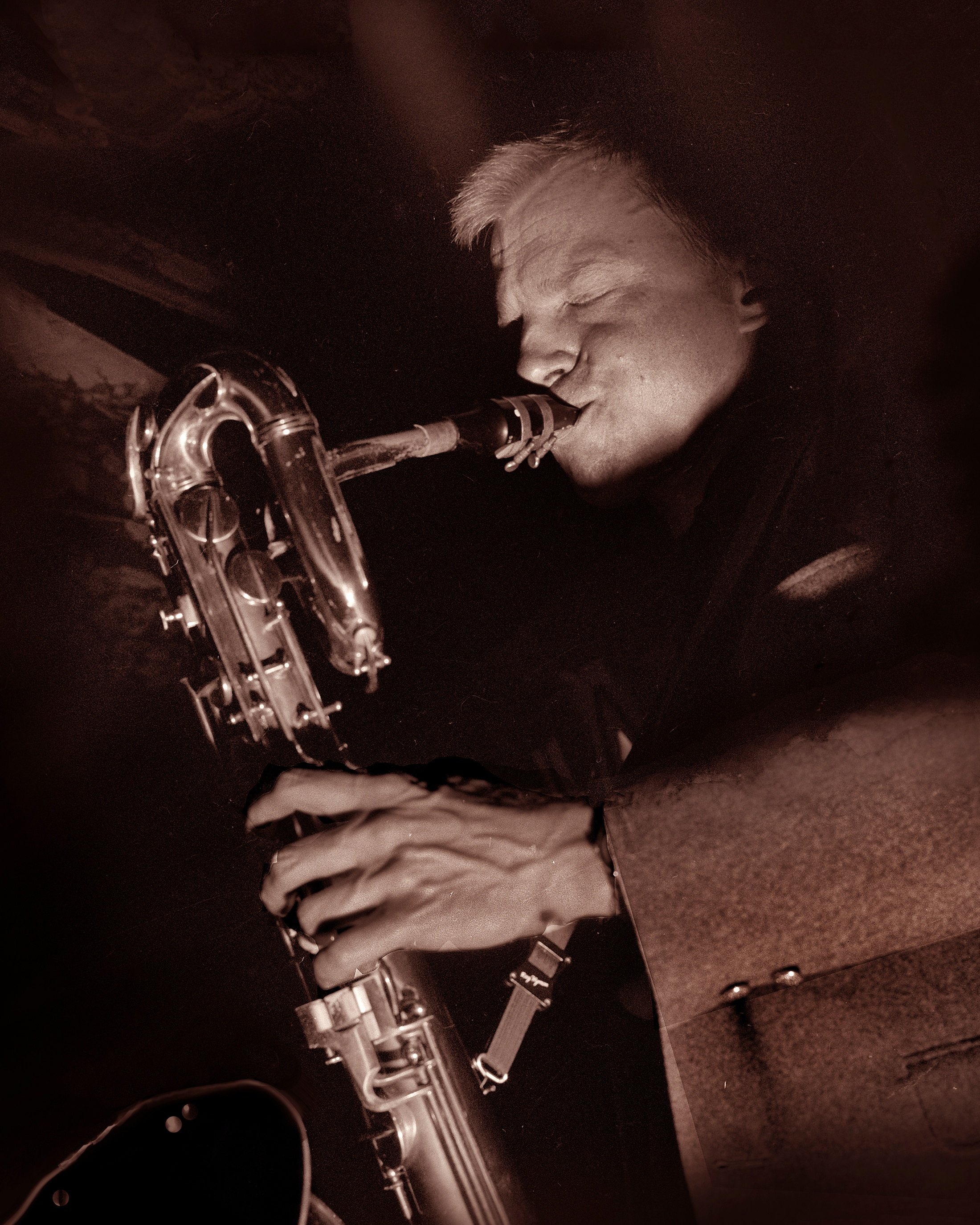 Gerry mulligan at the black hawk jazz club