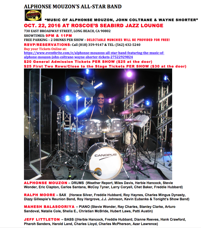 ALPHONSE MOUZON'S ALL STAR STRAIGHT-AHEAD BAND