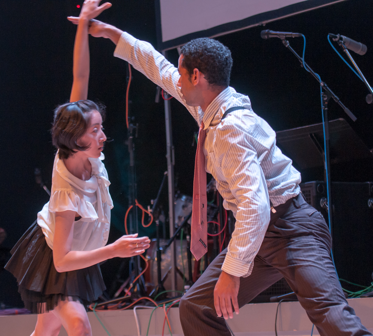 Misei Daimaru and Darion Smith with Jason Jordan / Knocknock Dance CO. At the Vision Festival 2012