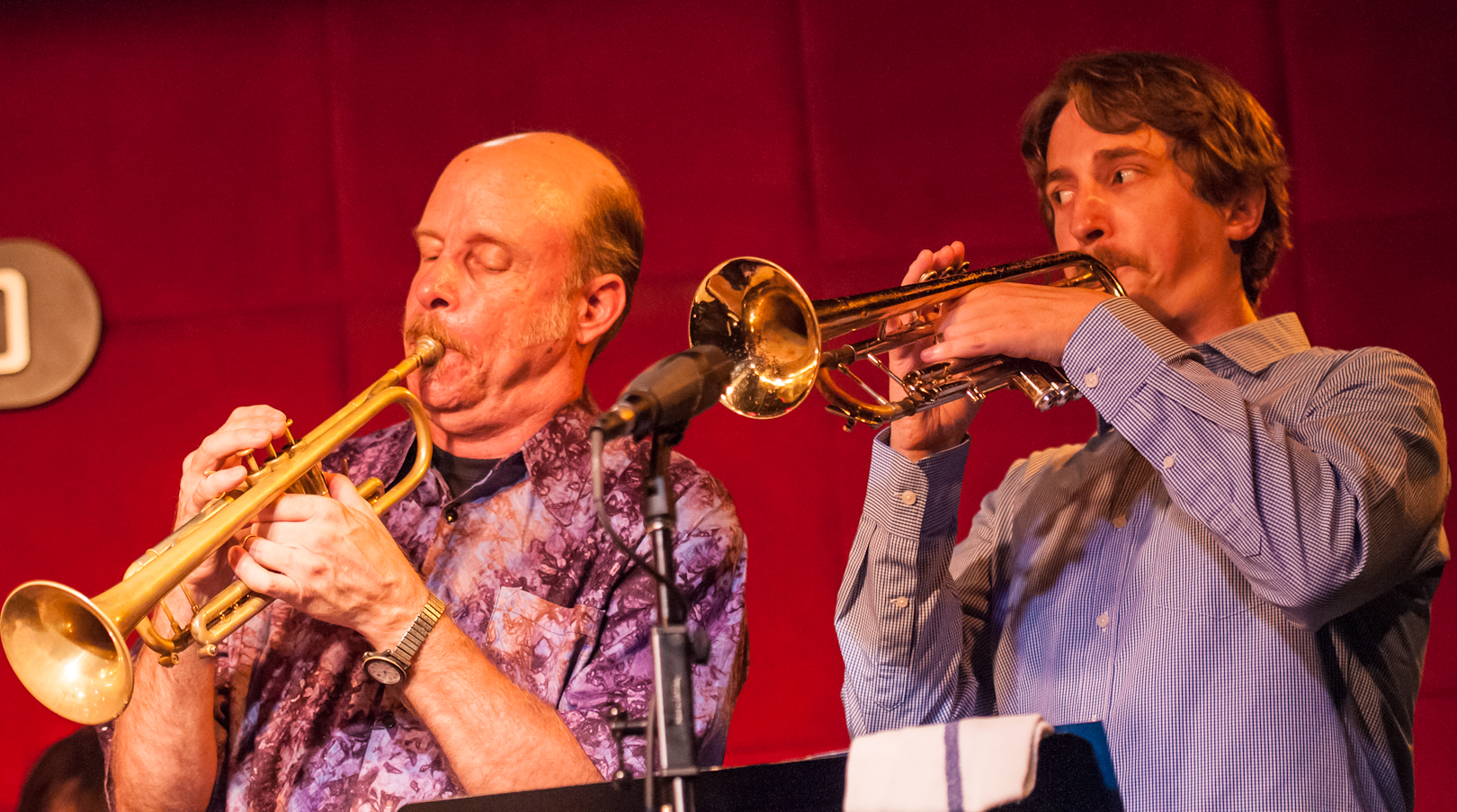 Tom Halter and Dan Rosenthal with the Either/Orchestra at the Jazz Standard