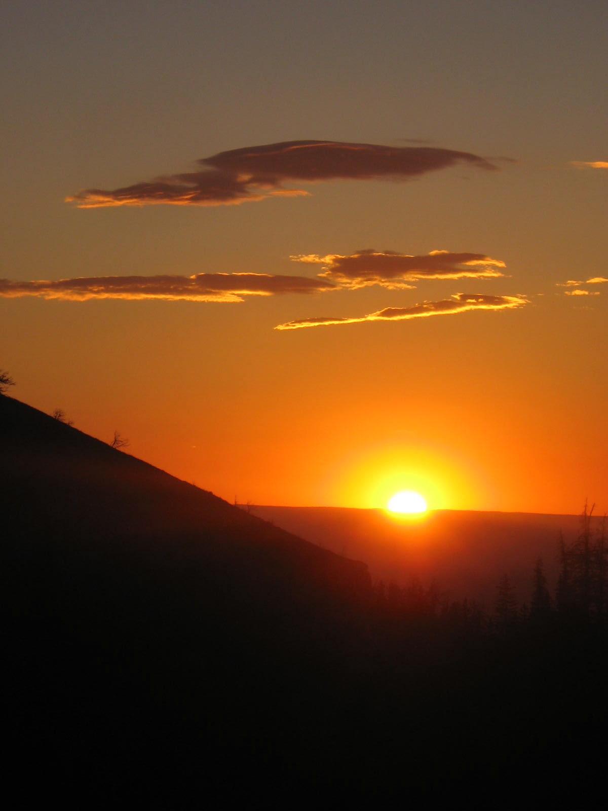 Sunrise over Yellowstone