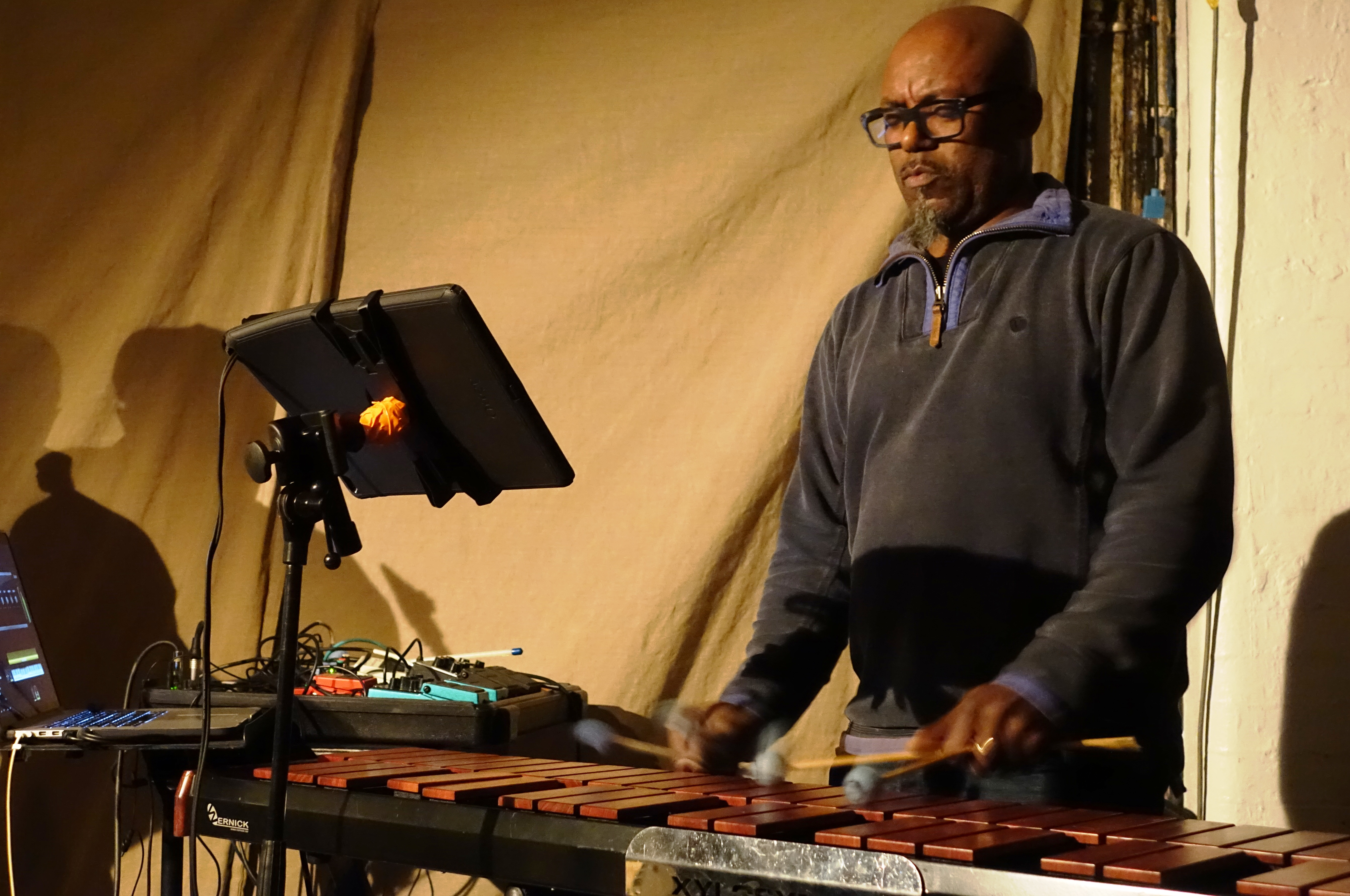 Orphy Robinson at Cafe Oto, London in December 2017