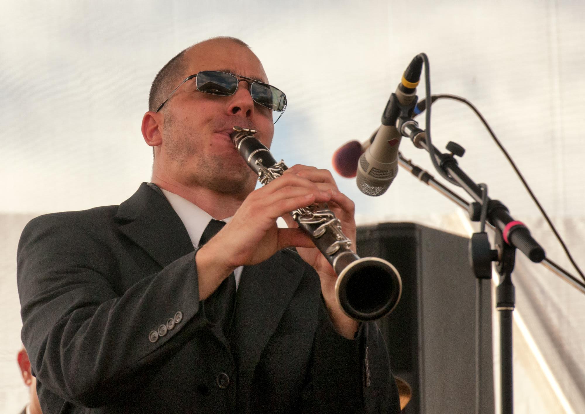 Marco Rosano With Orkesta Mendoza At The Mim Global Music Festival