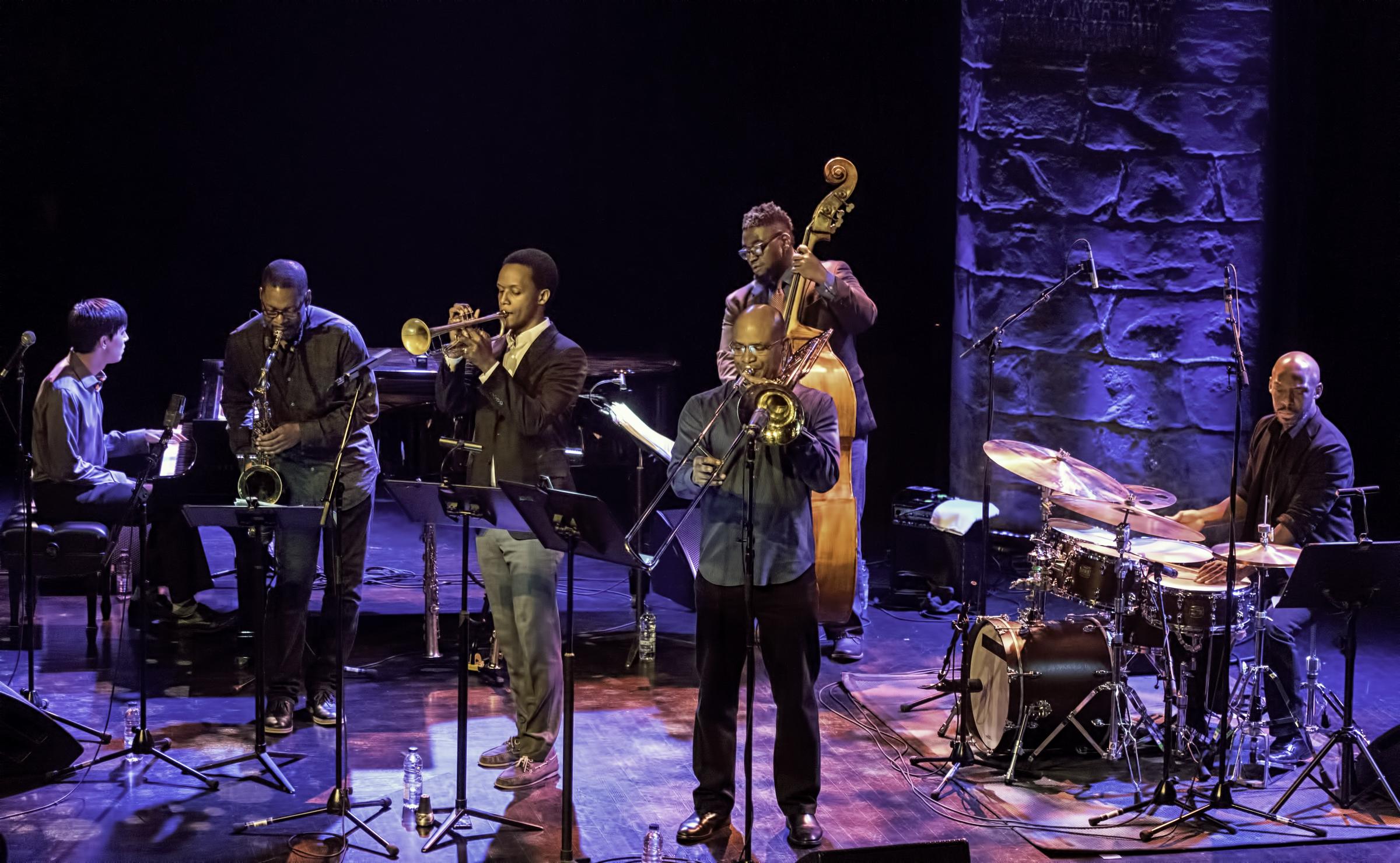 Glenn Zaleski, Ravi Coltrane, Jason Palmer, Dezron Douglas, Robin Eubanks and E.J. Strickland with Ravi Coltrane and the Void at The Montreal International Jazz Festival 2017