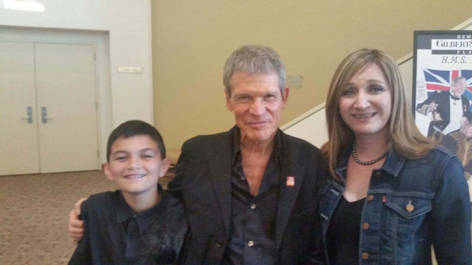 Isaac and his mom with David Sanborn