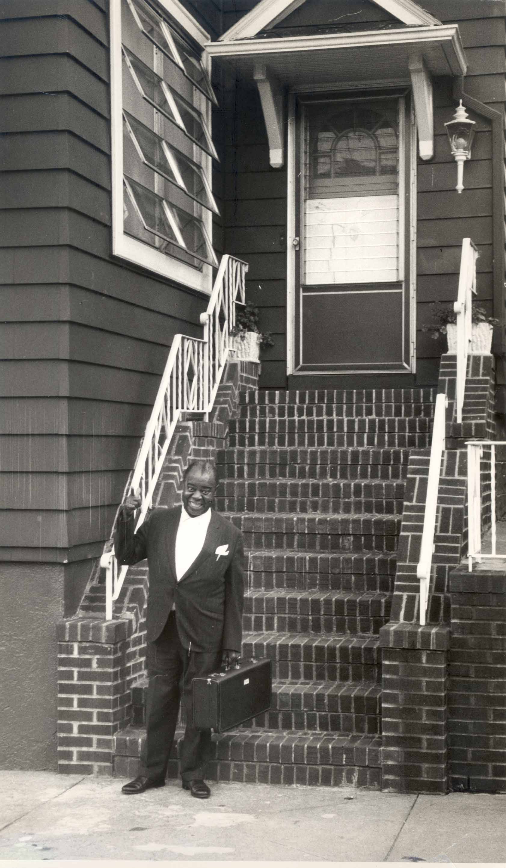 Louis Armstrong at His House