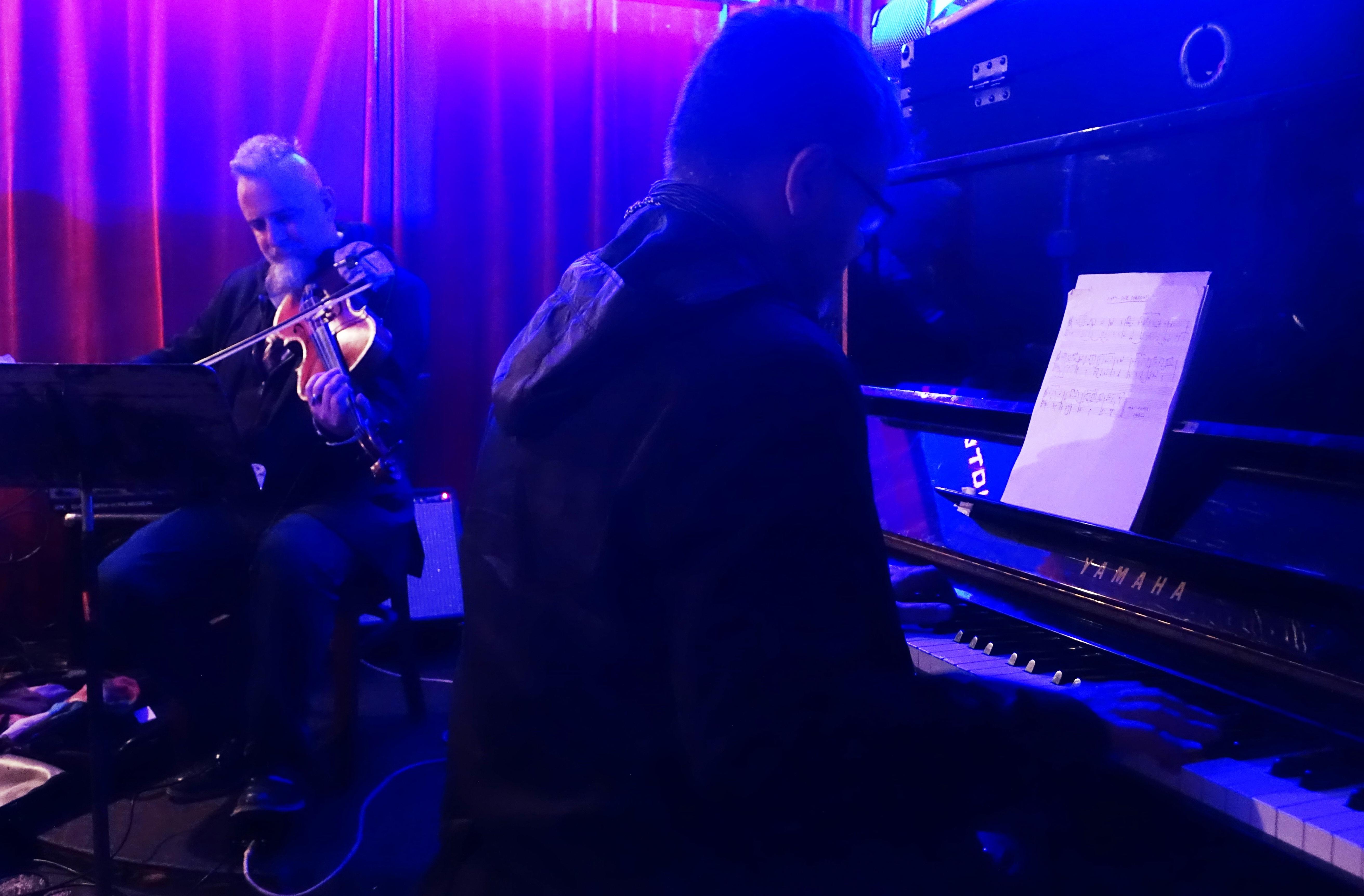 Mat Maneri and Lucian Ban at Barbes, Brooklyn in May  2018