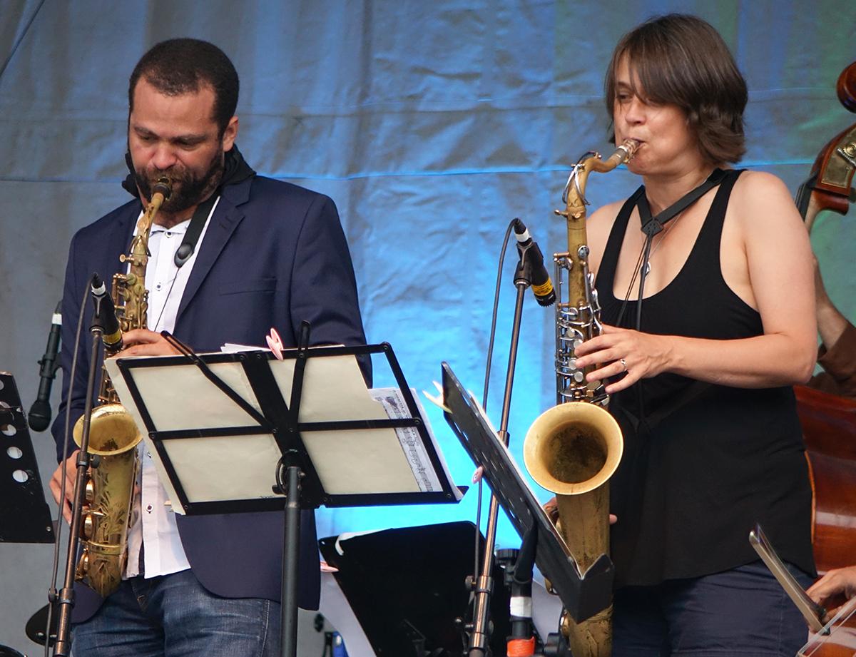 Greg Ward & Ingrid Laubrock at Guelph Jazz Festival 2015