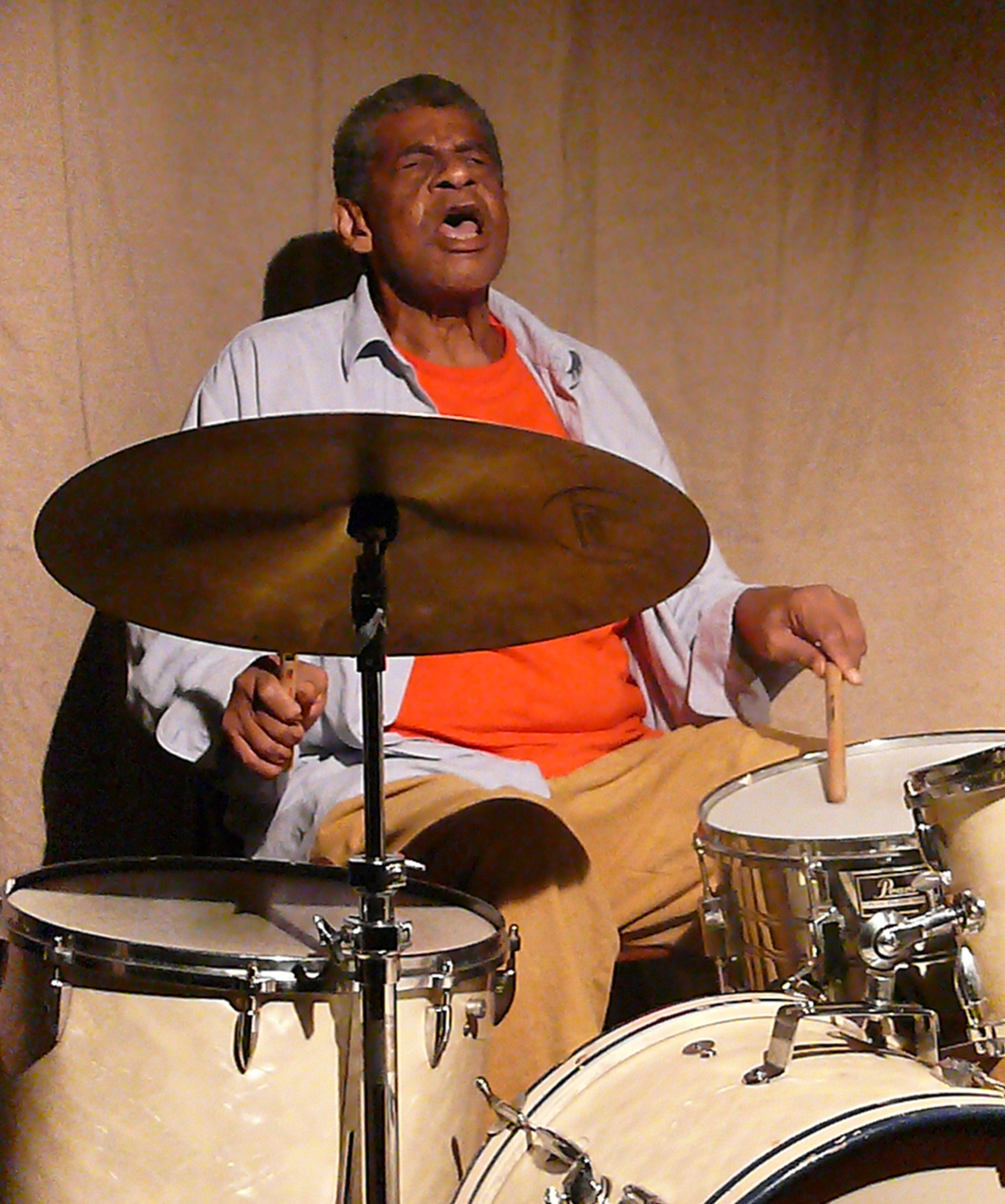 Sunny Murray at Cafe Oto, London in August 2010