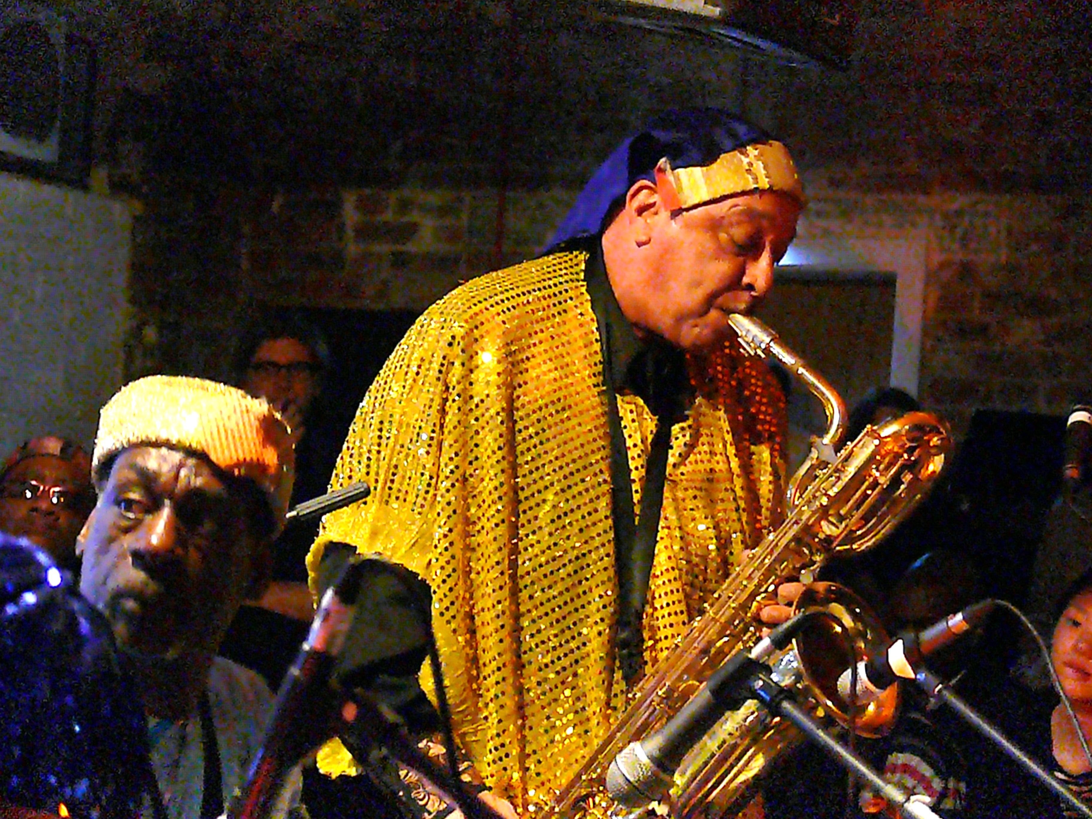 Danny Ray Thompson at Cafe Oto, London in April 2010 with the Sun Ra Arkestra
