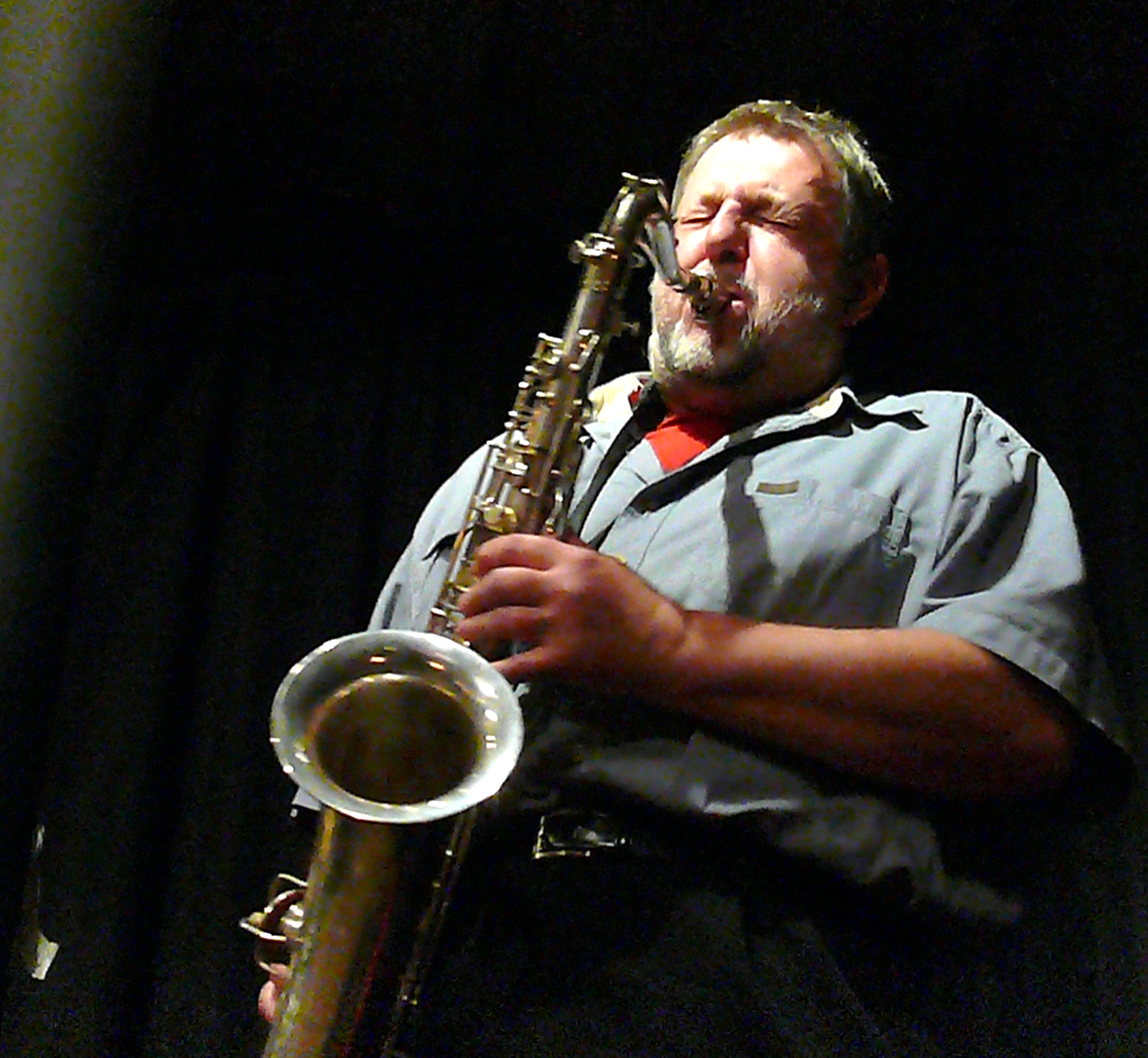 Paul Dunmall with the Profound Sound Trio at the Vortex, London, 23 November 2009