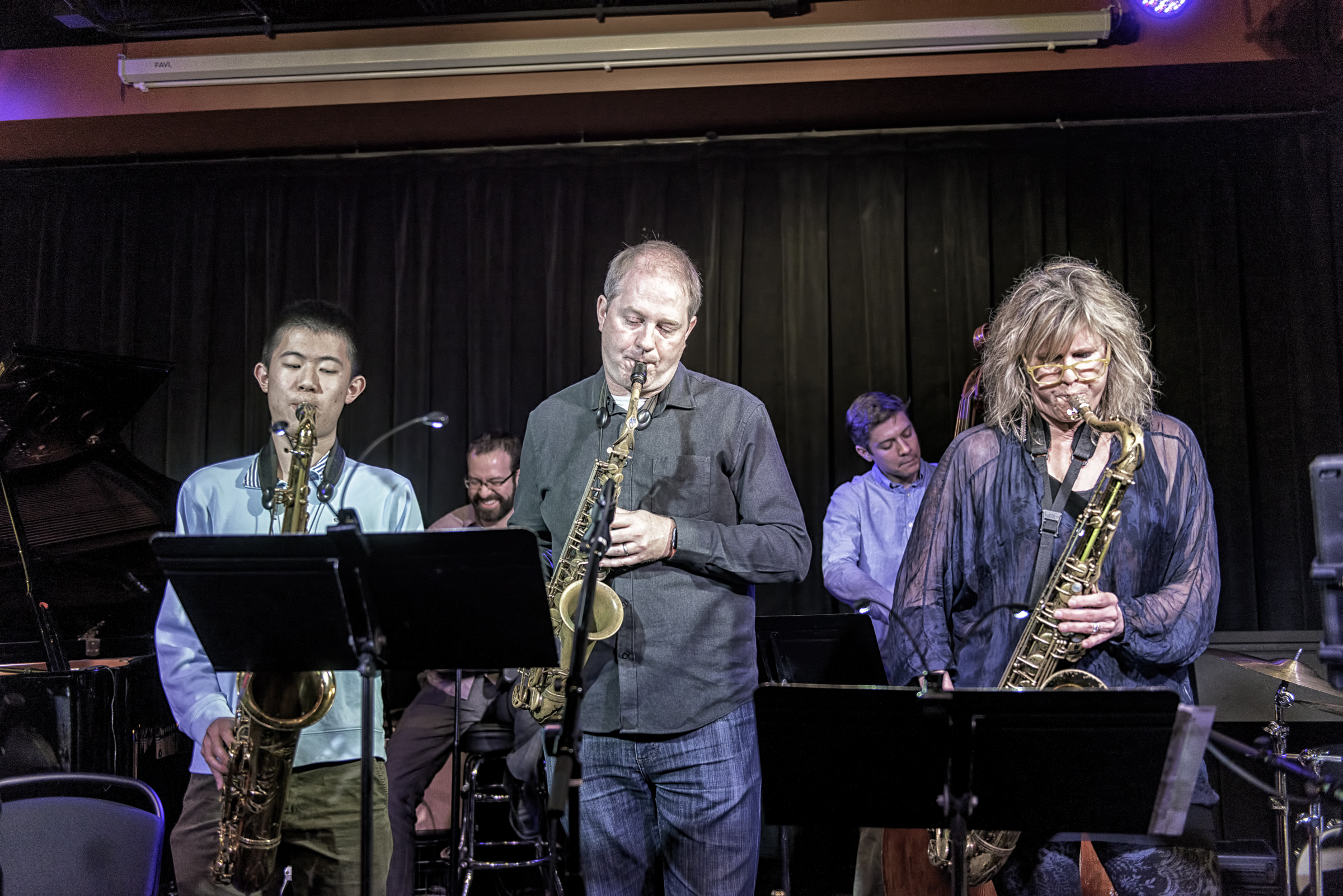 Alex Yuwen, Will Goble, Mary Petrich, Eric Rasmussen, And Jeff Libman With Will Goble's Audiodrama Octet At The Nash