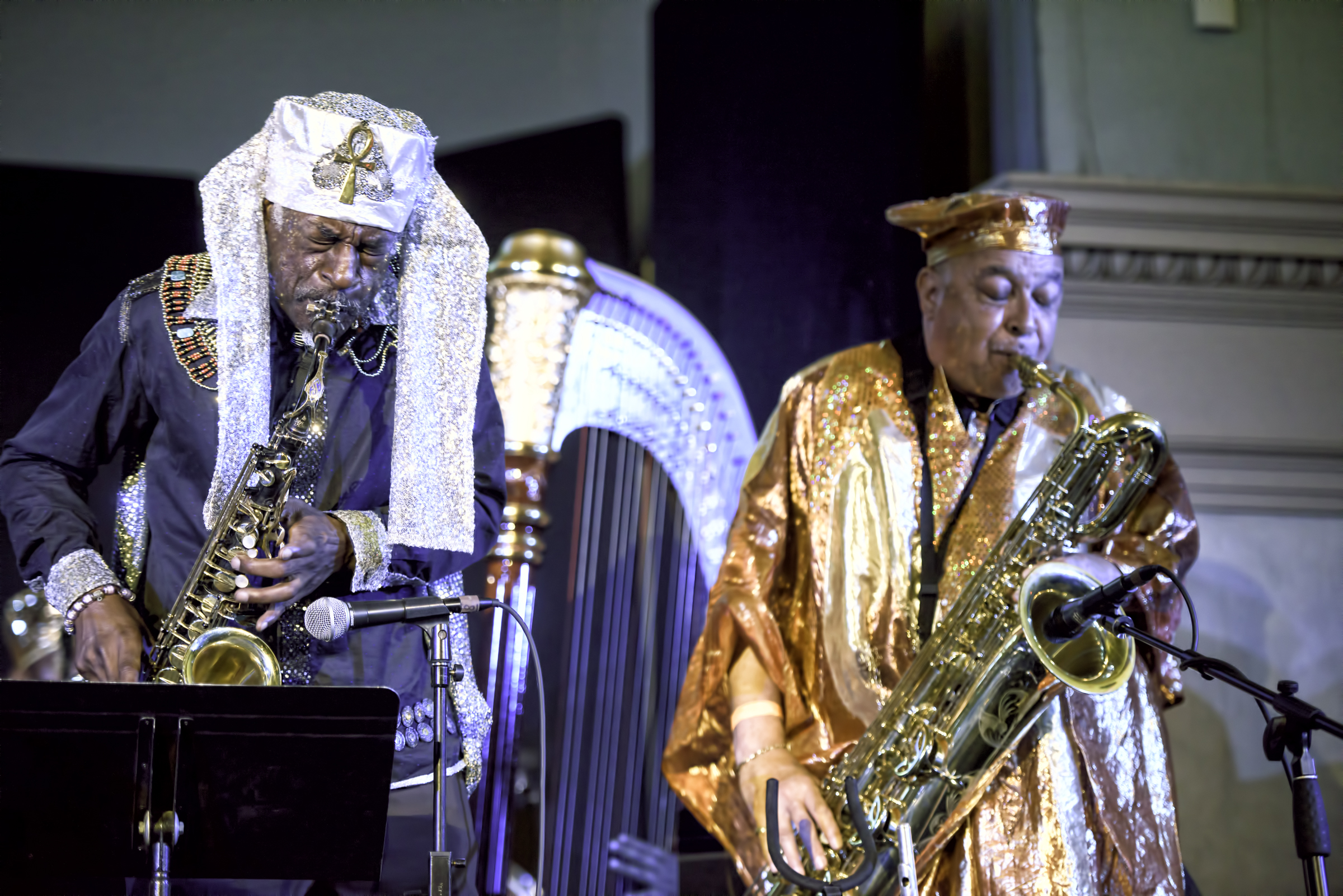 Knoel Scott and Danny Ray Thompson with the Sun Ra Arkestra Directed by Marsall Allen at the 20th Anniversary Vision Festival 2015