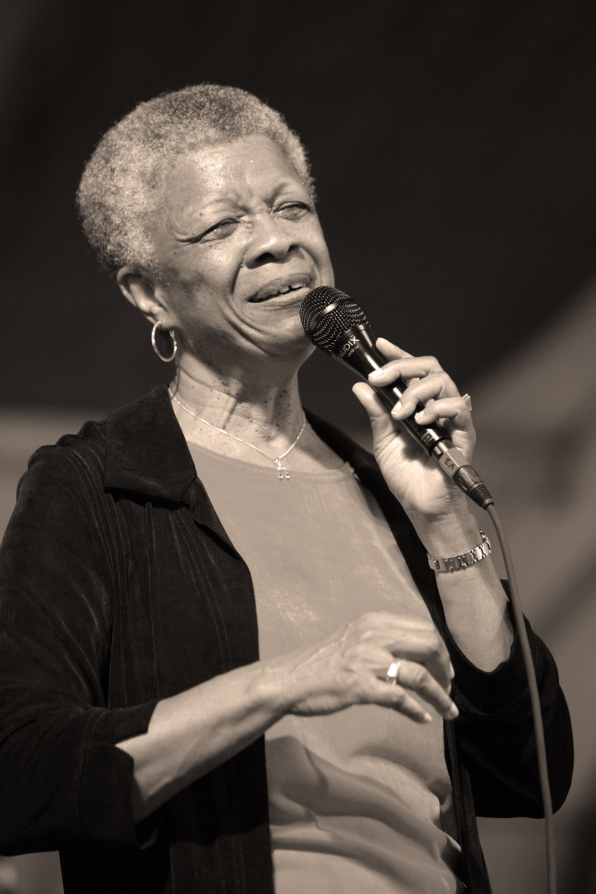 Germaine Bazzle at the New Orleans Jazz and Heritage Festival 2006