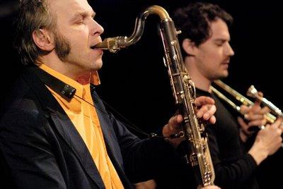 Rudi Mahall and Nils Wogram. Madrid (Spain), 2008