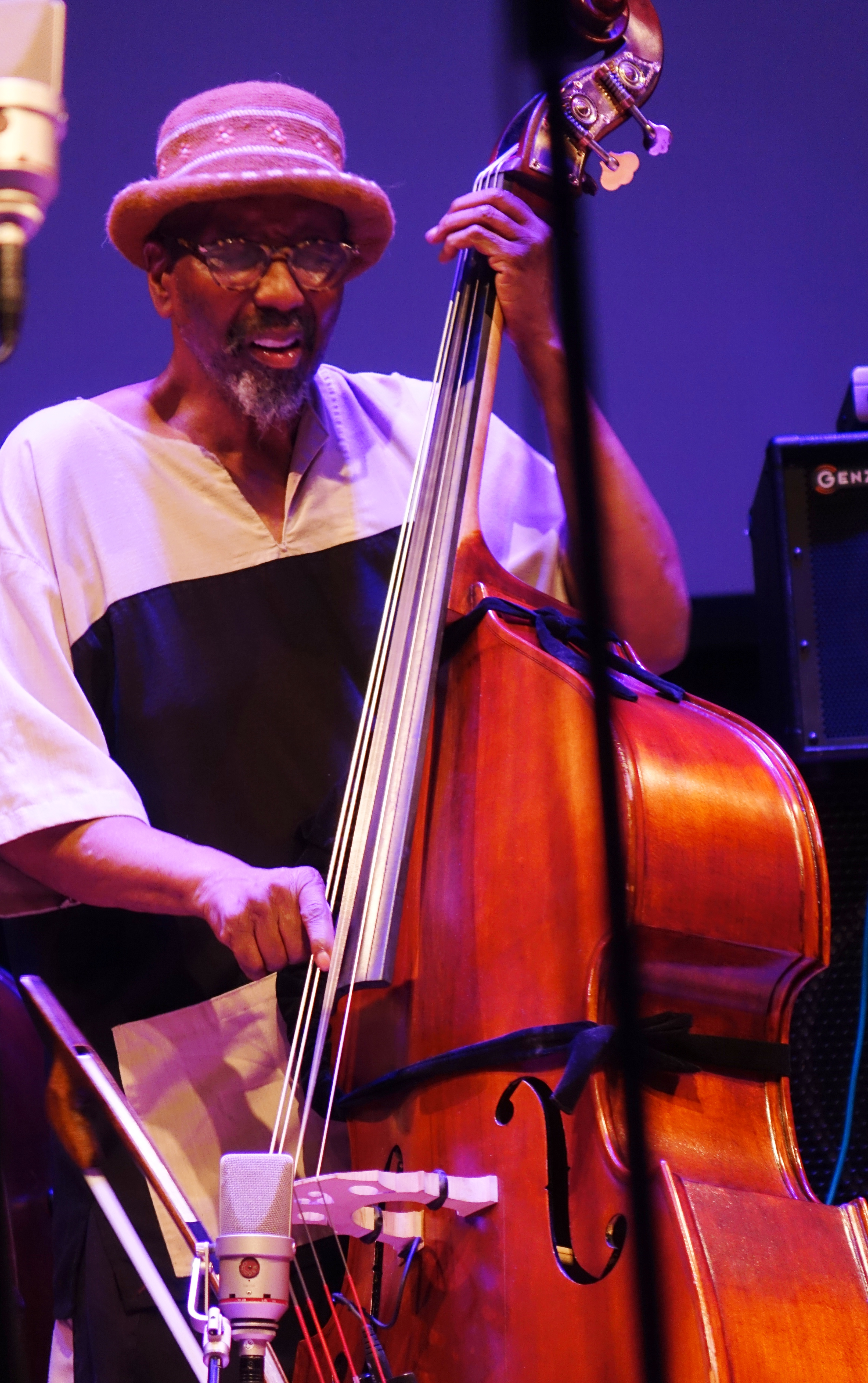 William Parker at Roulette, Brooklyn in May 2018