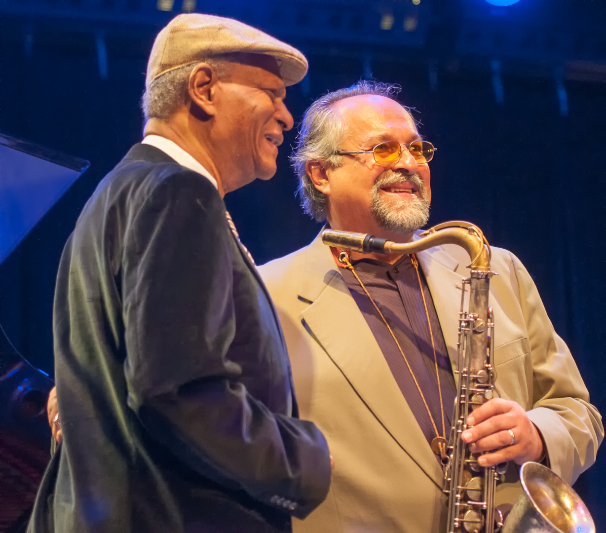 McCoy Tyner and Joe Lovano at Jazz for Obama at Symphony Space