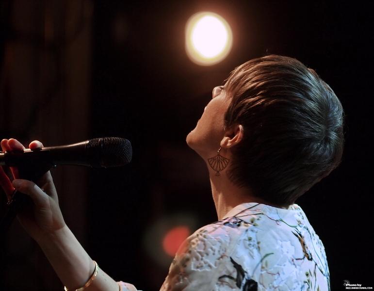 Gretchen Parlato, Performing at Jazz Festival Zadymka Jazzowa, Bielsko-Biala, Poland. 2013