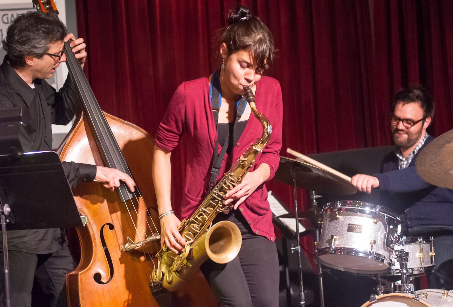 Joseph Lepore, Melissa Aladana and Colin Stranahan with Quartet at the Jazz Gallery
