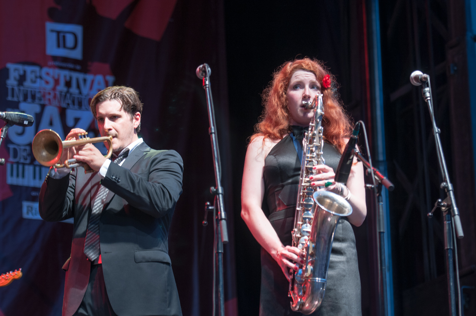 William Sperandei and Alison Young with Tyler Yarema at the Montreal International Jazz Festival 2012