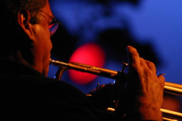 "Daniel Verdesca with ""Swing Apache Orchestra"" at L'Amr Aux Cropettes, Geneva, Switzerland, 2004"