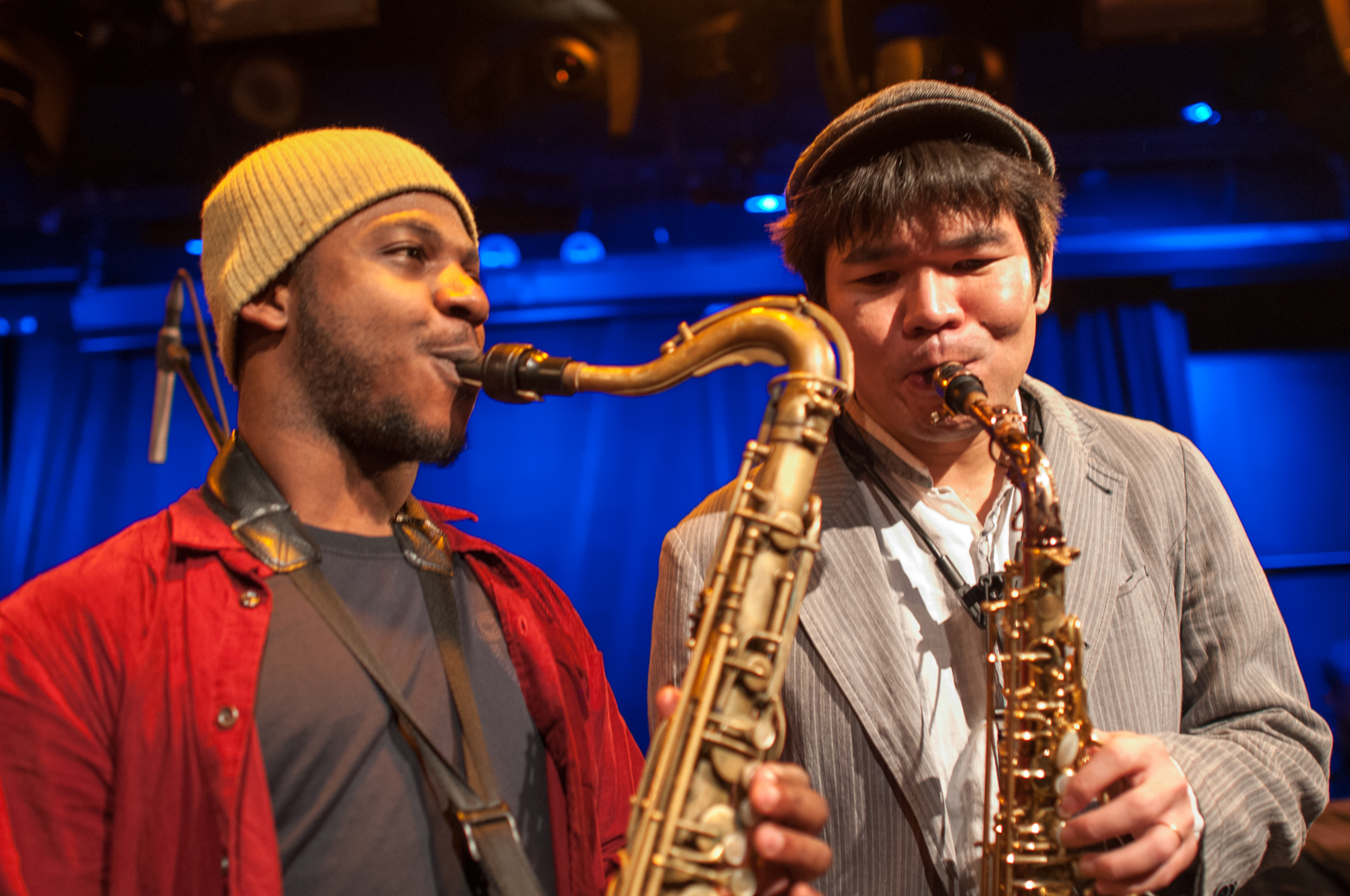 Yosuke Sato and Guest with Gregory Porter at le Poisson Rouge at Winter Jazzfest 2013