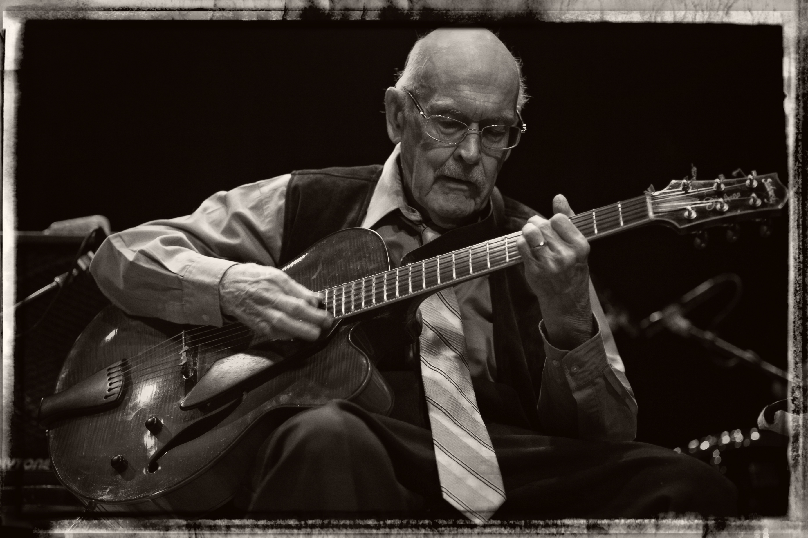 Jim Hall At Jazz Musicians For Obama In Nyc