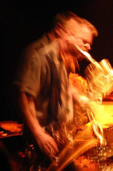 "Ken Vandermark with ""Vandermark 5"" at Amr, Sud Des Alpes, Geneva, Switzerland, 2004"