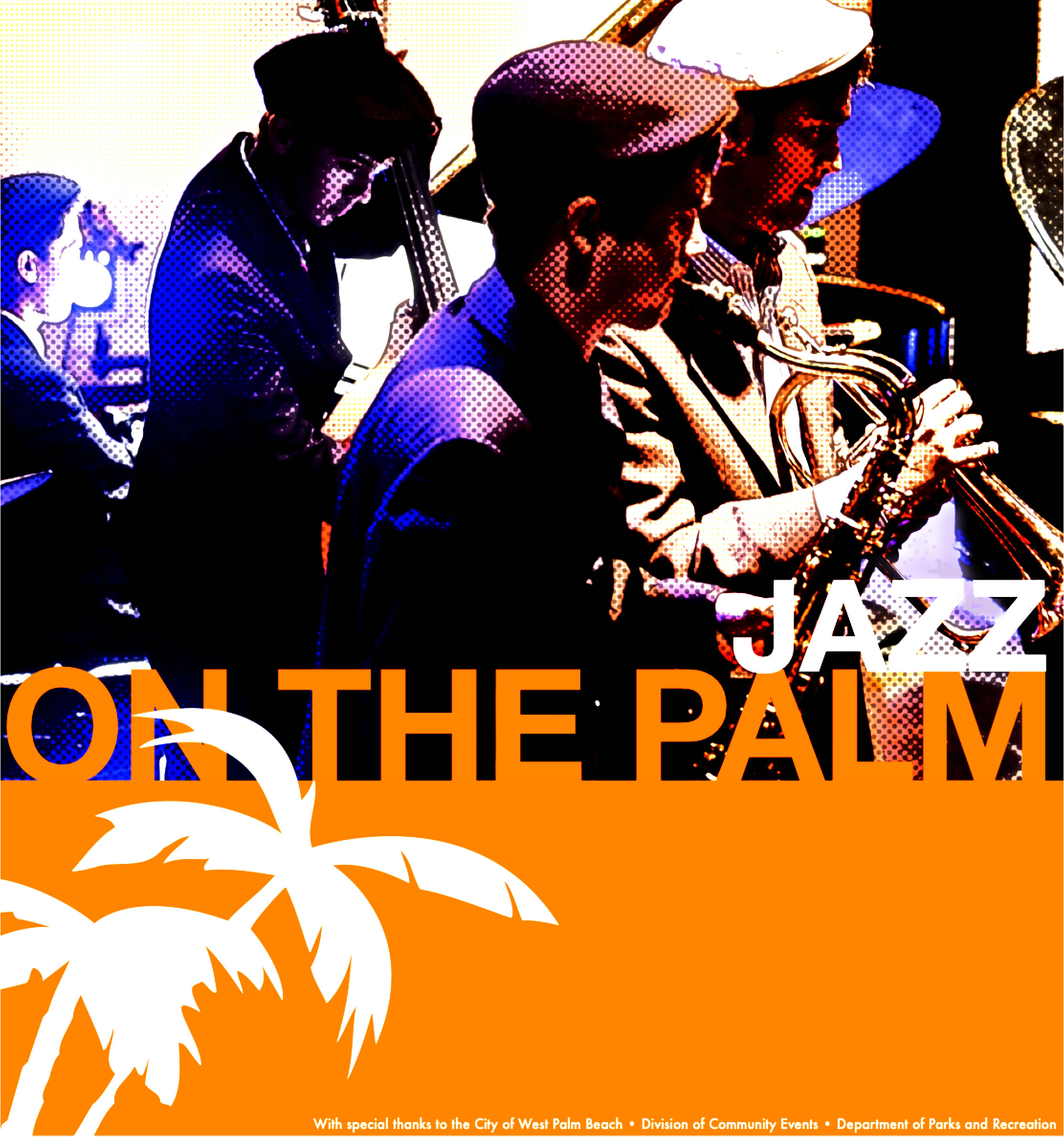 Jazz in six ad for jazz on the palm