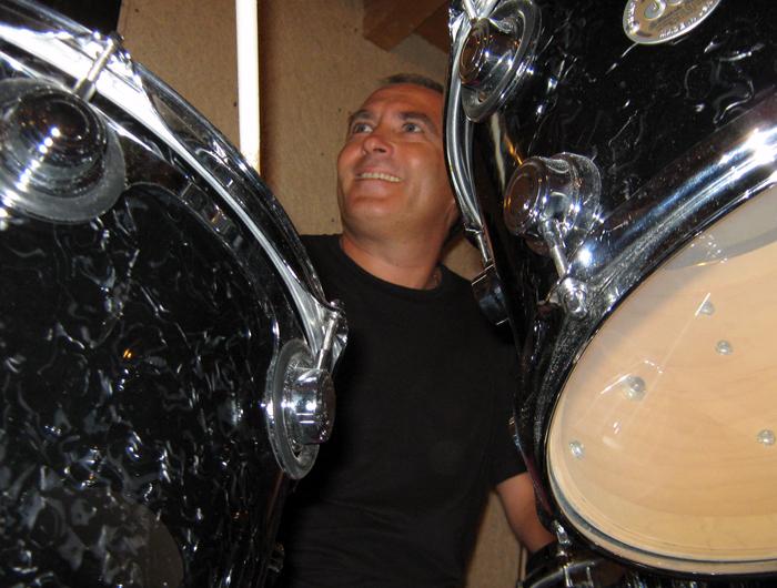 Claudio Scolari During the Record Session