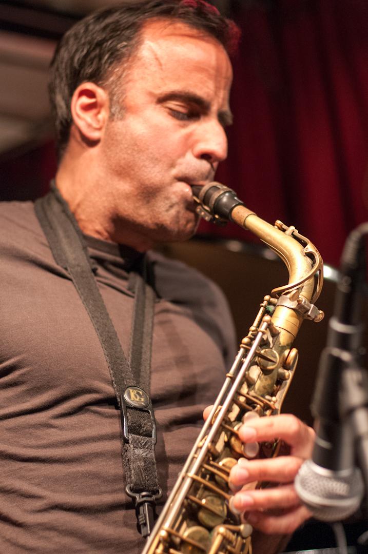 David Binney with the Rez Abbasi Quintet at the Cornelia Street Cafe