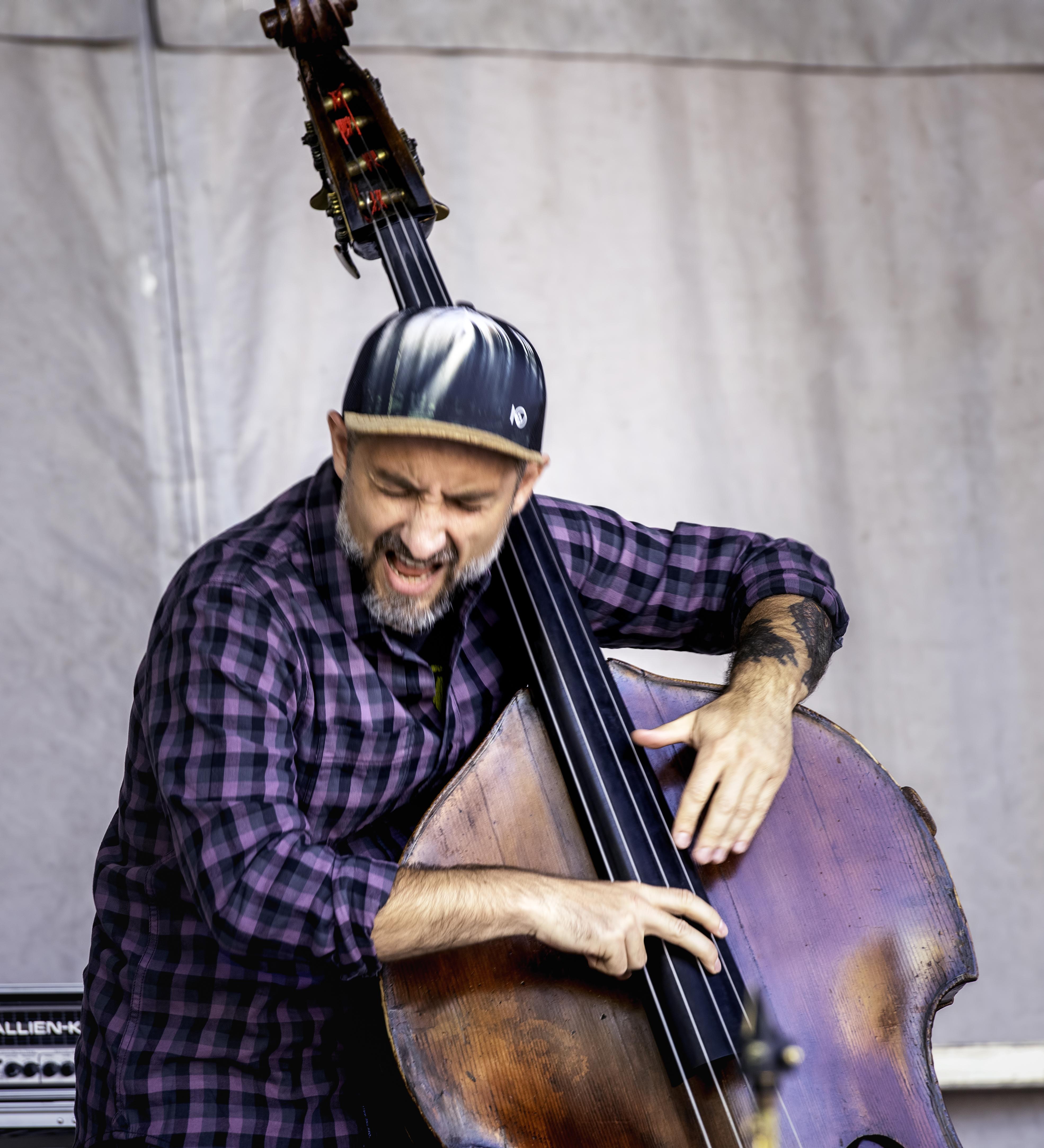 Stéphane Diamantakiou with the Eyevin Trio at the Guelph Jazz Festival 2019