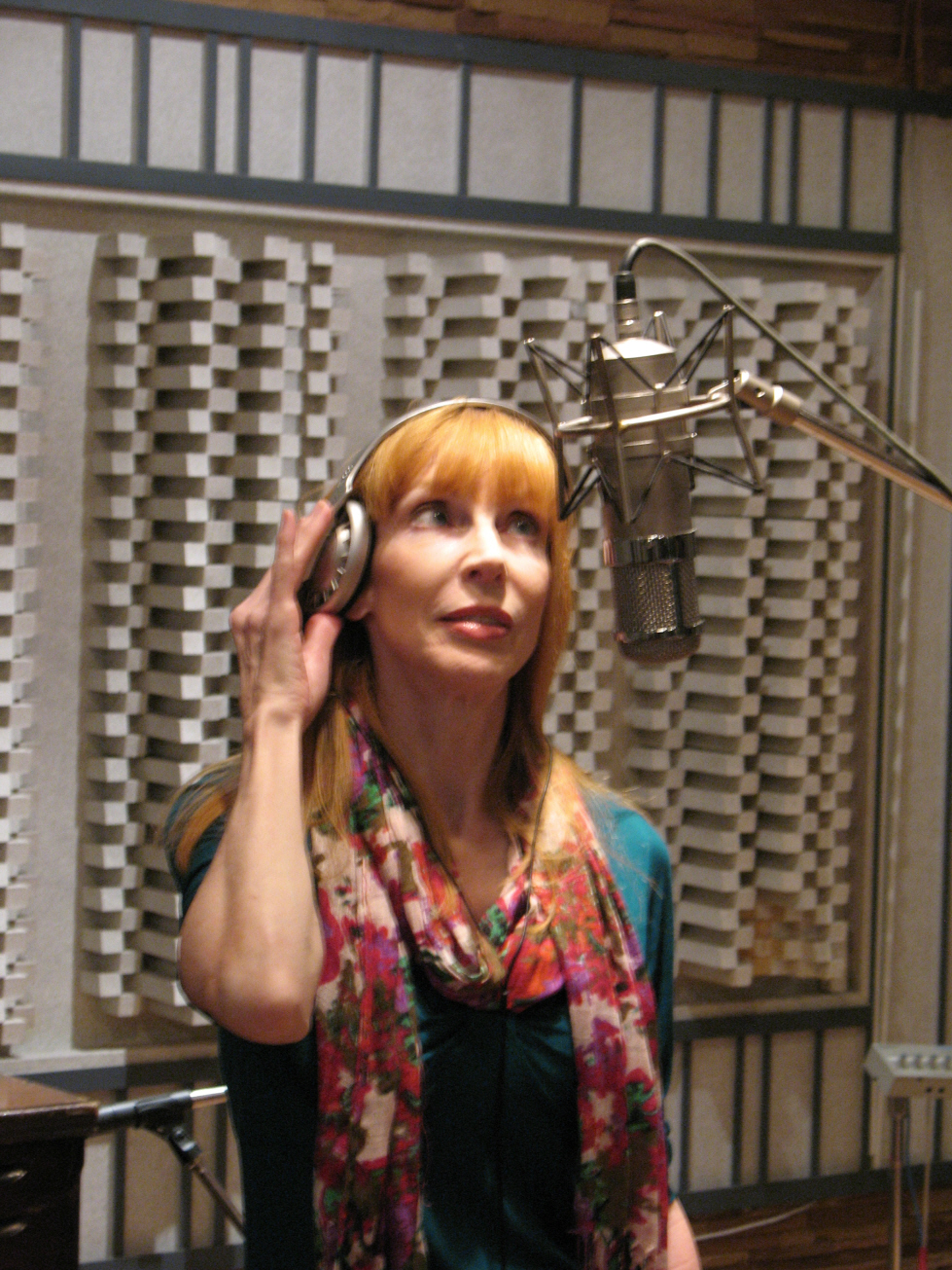 Laura at the mic for