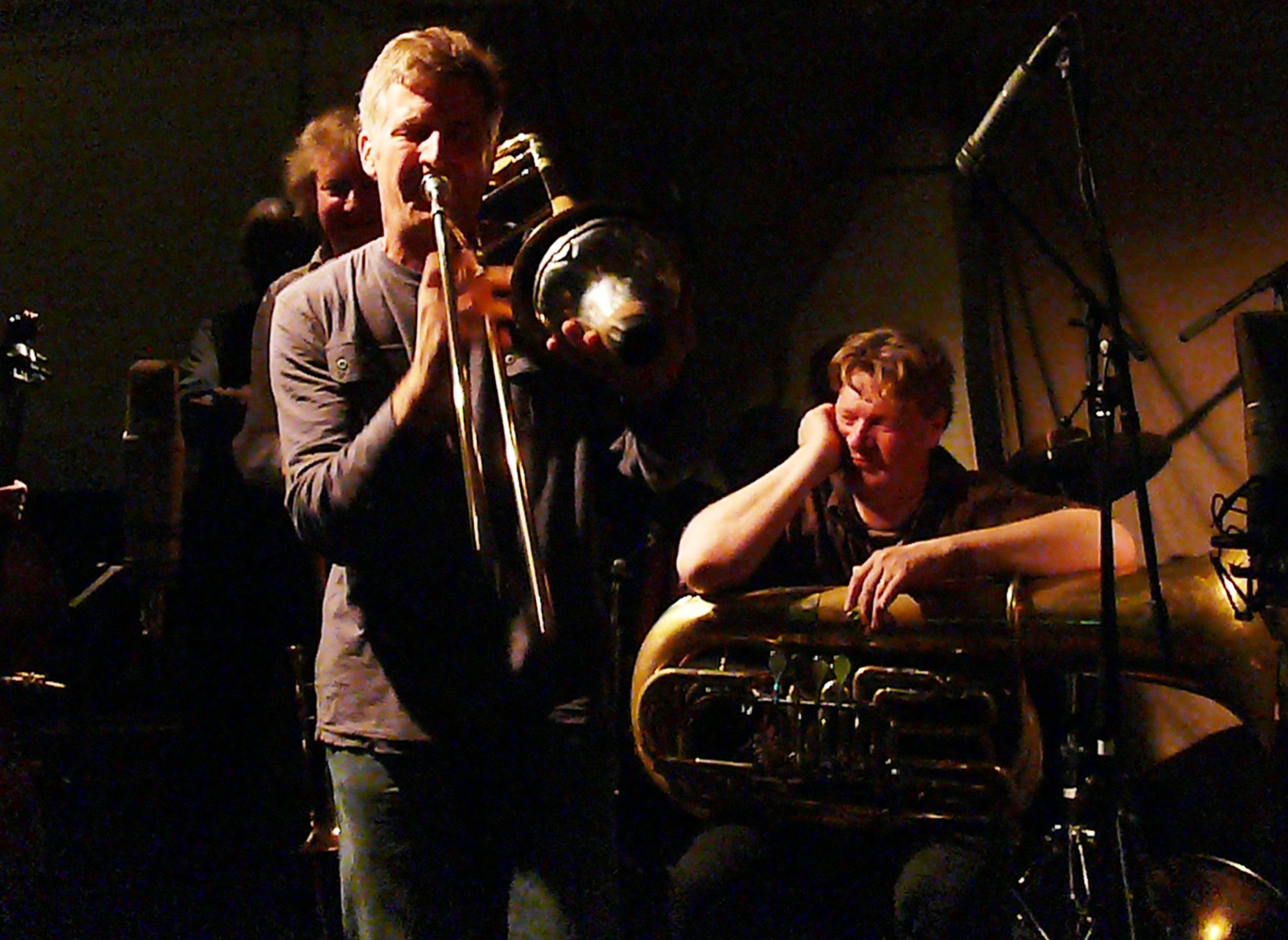 Jeb Bishop and Per Ake Holmlander at Cafe Oto, London in November 2012