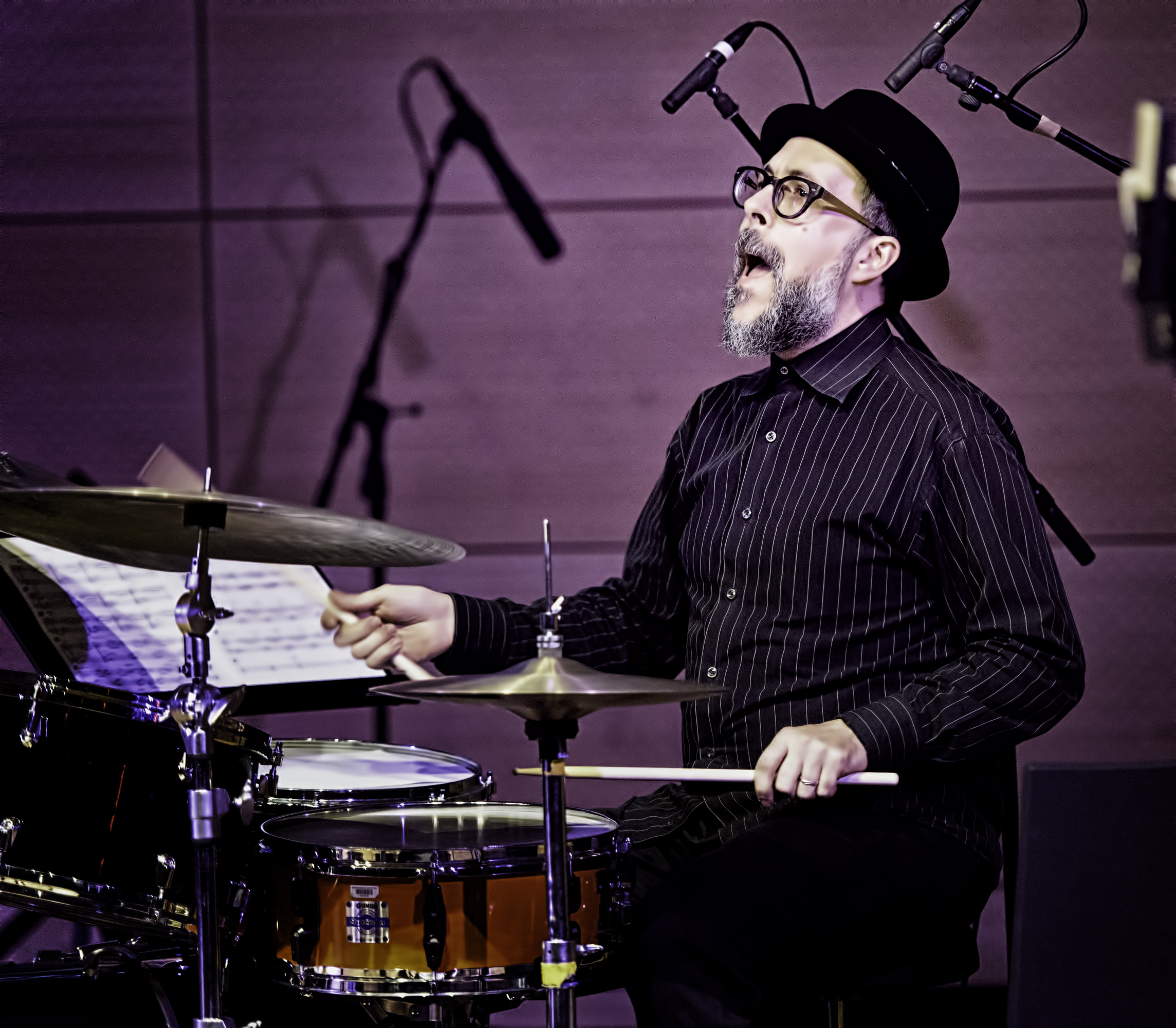 John Hollenbeck With Theo Bleckmann Group At The NYC Winter Jazzfest 2016