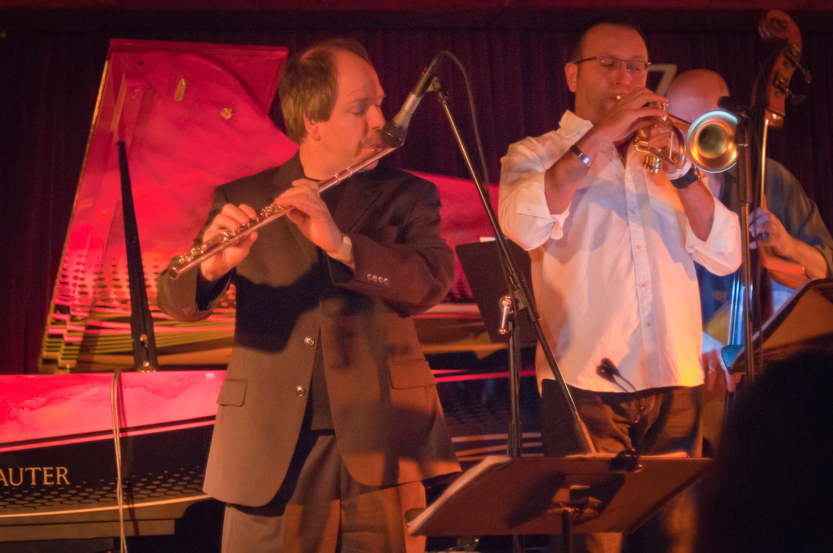 Bart Platteau and Ernie Hammes with Amina Figarova