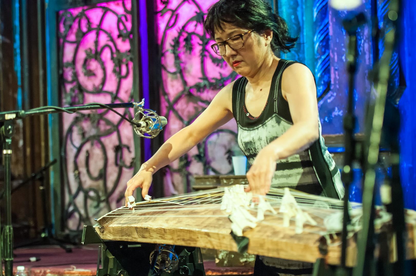 Miya Masaoka at the Under_line Benefit at Angel Orensanz Foundation