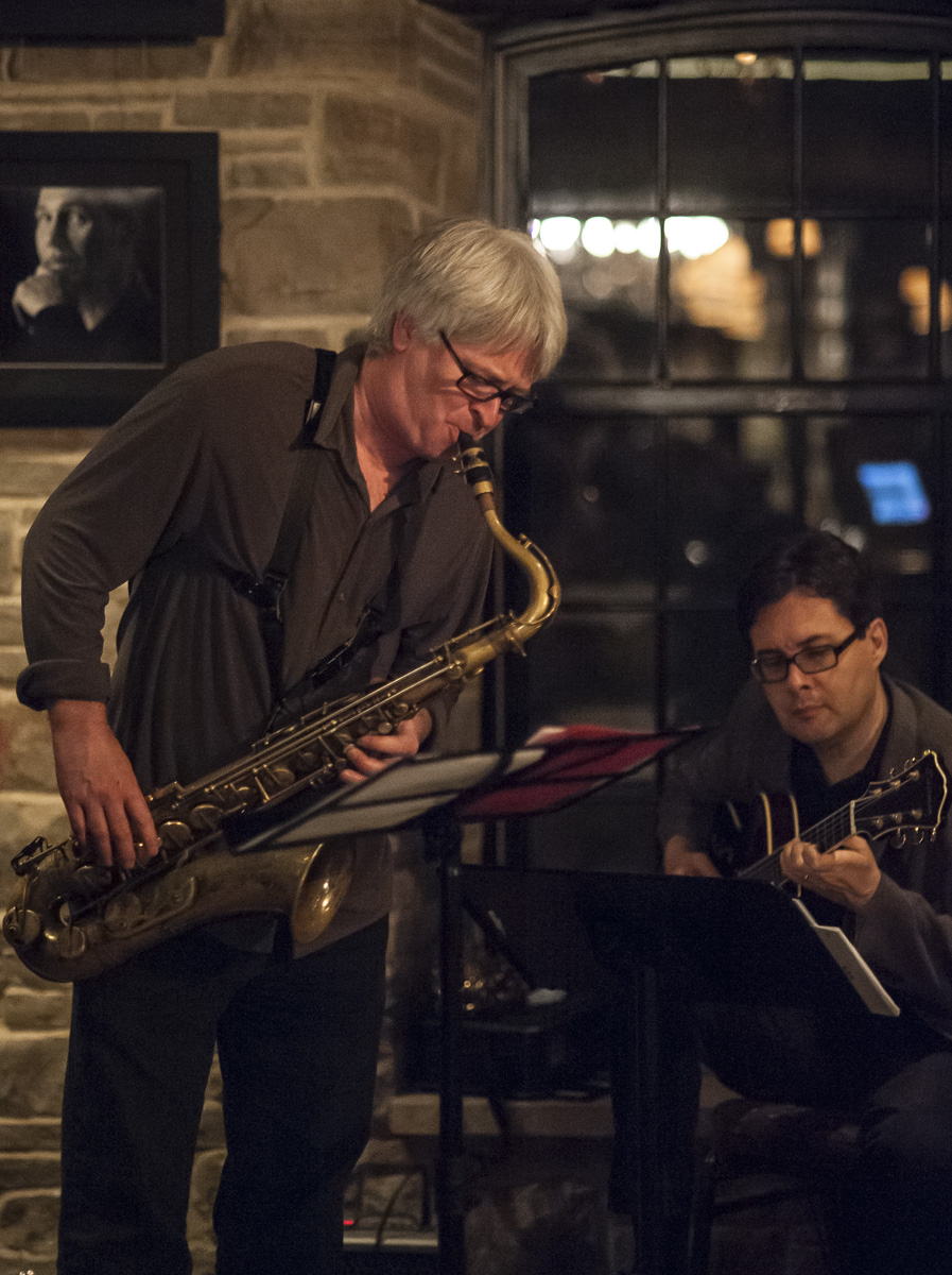 Mike murley & reg schwager @ the home smith bar - the old mill inn - toronto