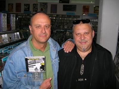 Roberto Magris and Tony Lakatos at Amoeba Music in Hollywood
