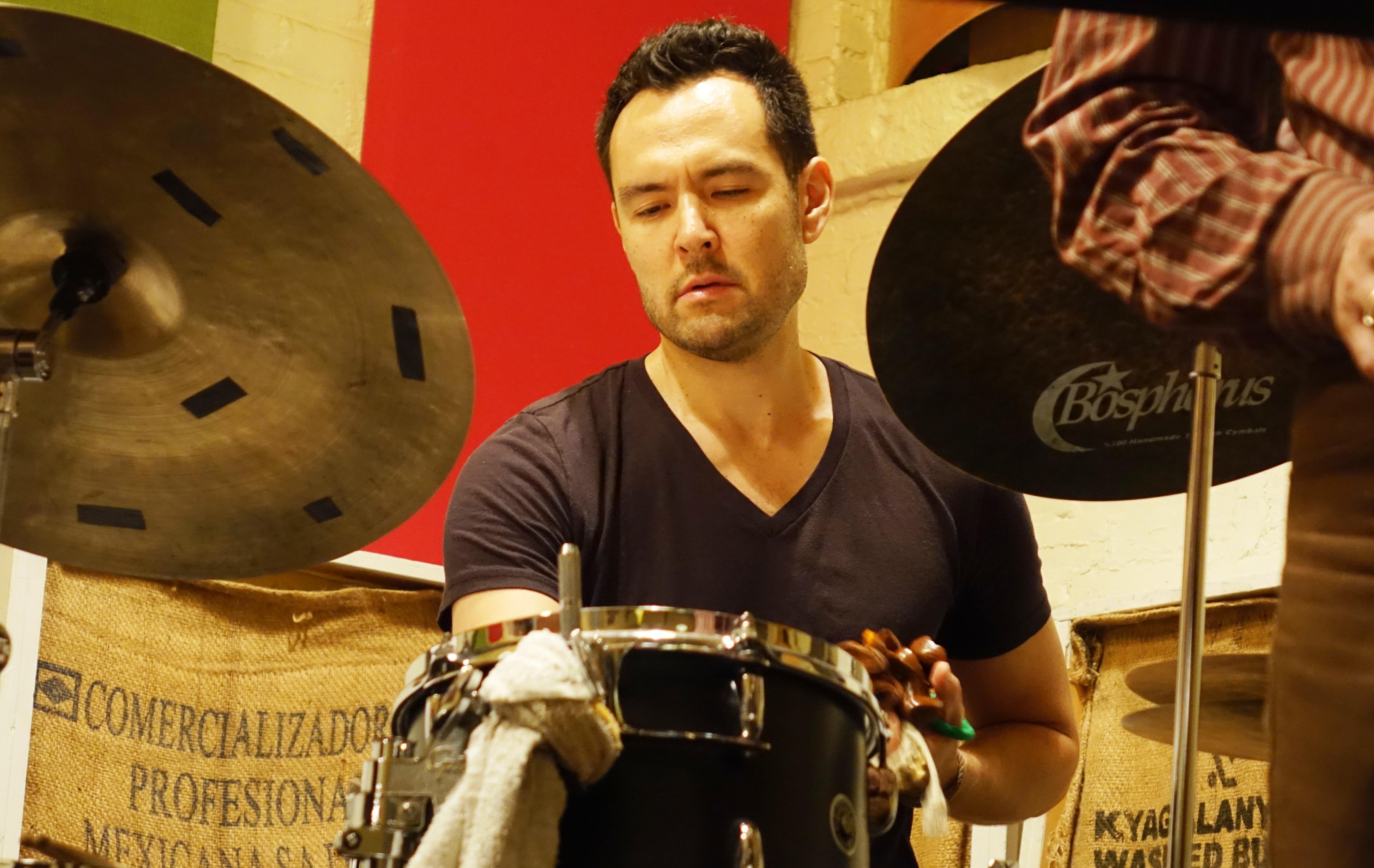 Tomas Fujiwara at Ibeam, Brooklyn in May 2018