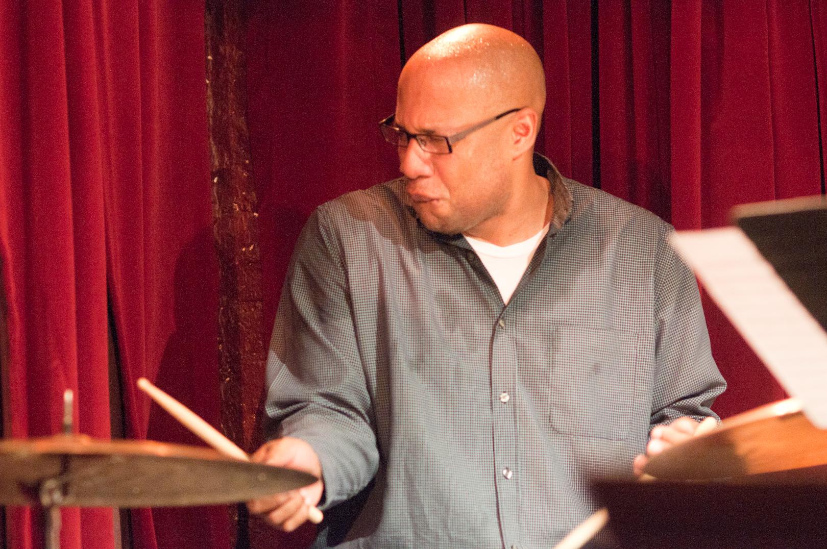 Otis Brown III with the David Liebman/Sam Newsome Quartet at Cornelia Street Cafe