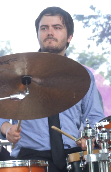 Jeremy Cunningham with the Marquis Hill Black-Tet at 2011 Chicago Jazz Festival