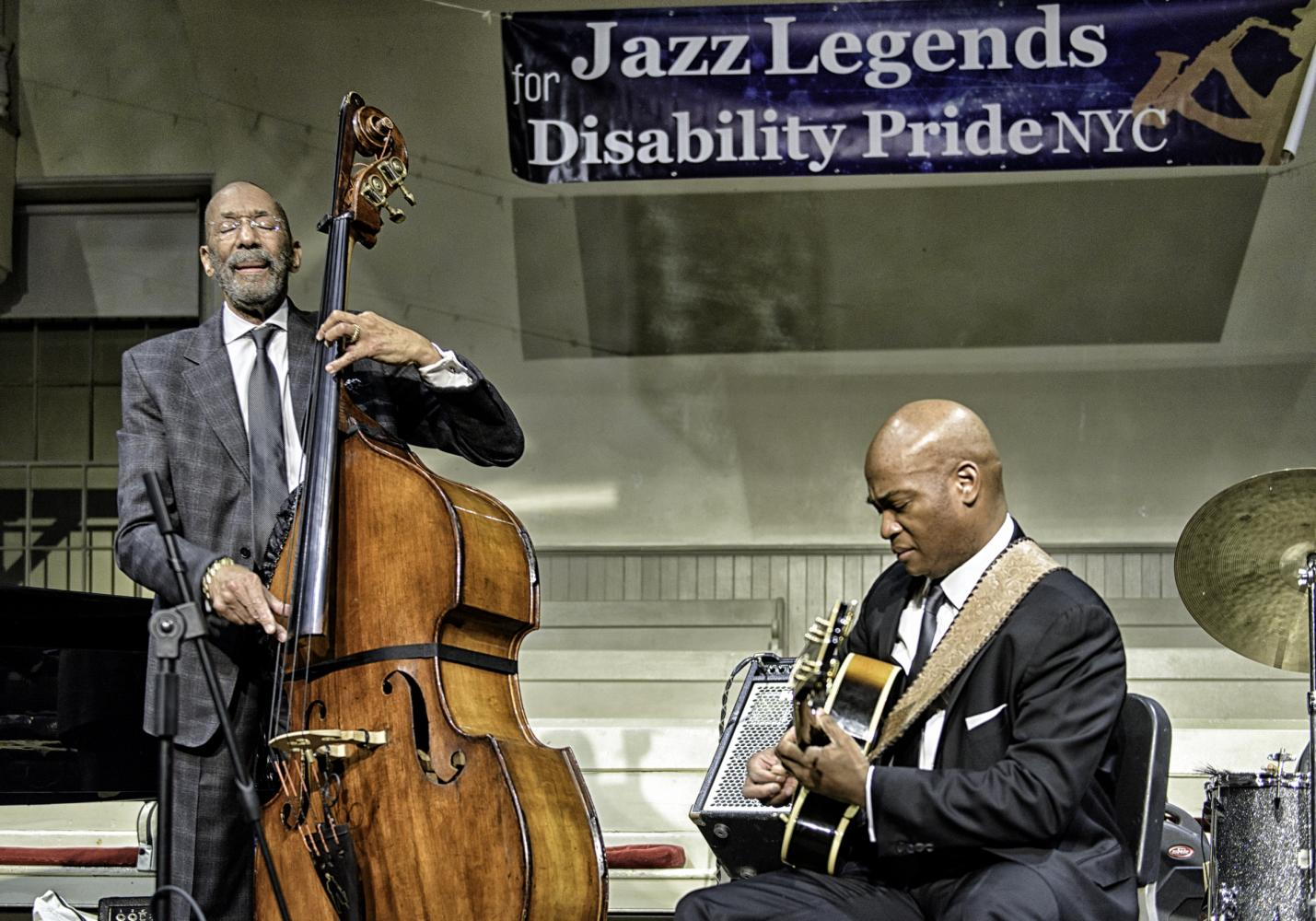Ron Carter and Russell Malone At The Jazz Legends For Disability Pride At The NYC Winter Jazzfest 2017